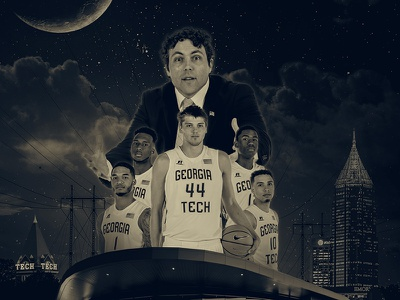 Georgia Tech Basketball Halloween Poster atlanta things stranger halloween basketball tech georgia