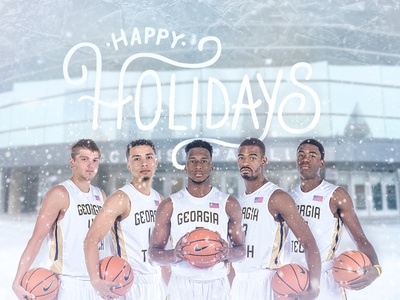 Georgia Tech Basketball Holidays Graphic