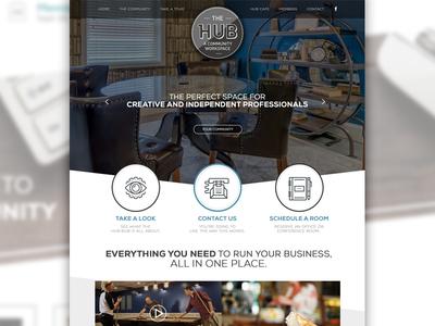 The Hub - A Community Workspace digital website design