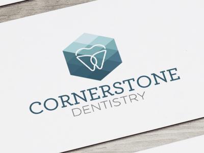 Cornerstone Dentistry Branding branding design identity logo