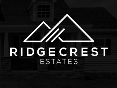 RidgeCrest Estates Logo minimalist modern branding logo design