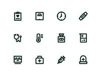 Healthmate Icons black