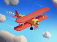 3D Low Poly Airplane