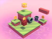 Mario Themed 3D Island