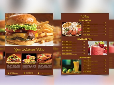 Food flyer and Menu Template menu template pizza menu flyer meat lumberjack grill food menu food flyer fast food flyer barbecue bar