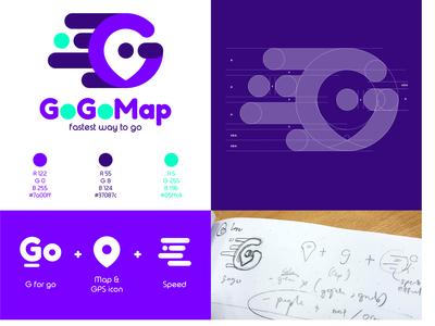 GoGoMap Logo Design