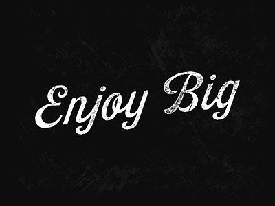 Enjoy Big black and white texture vector robu bordonaro park typography