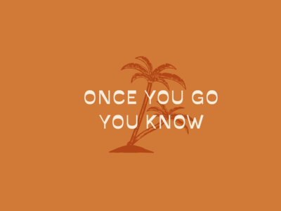 Once You Go You Know icon brand elements savate branding typography illustration