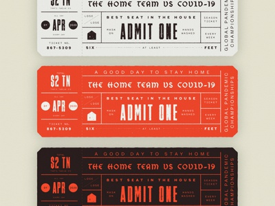 The Home Team Tickets covid19 stayhome blackletter pentacle timmons tickets baseball red black texture design typography