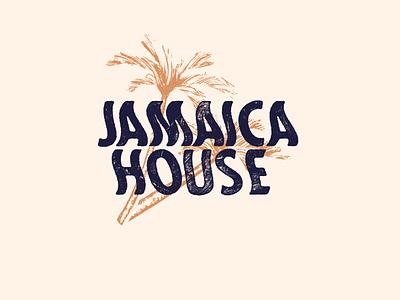 🌴Jamaica House 🌴 wave typography palmtree branding jamaica
