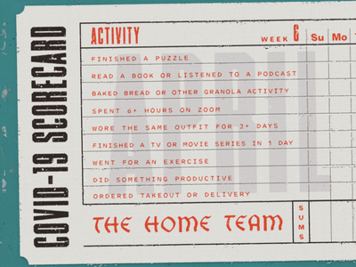 COVID Scorecard coronavirus covid19 covid april texture ticket typography truegrit baseball vintage
