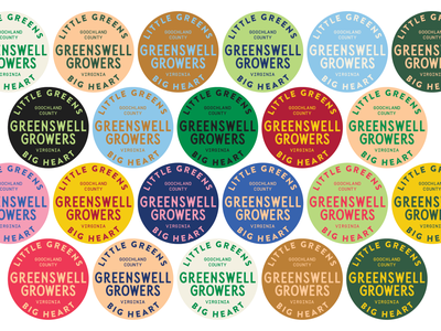 Greenswell Growers vector logo richmond design badge farm lettuce hydroponics virginia color typography branding and identity branding