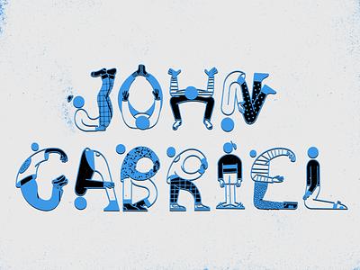 JG black blue typography people person truegrit procreate lettering illustration