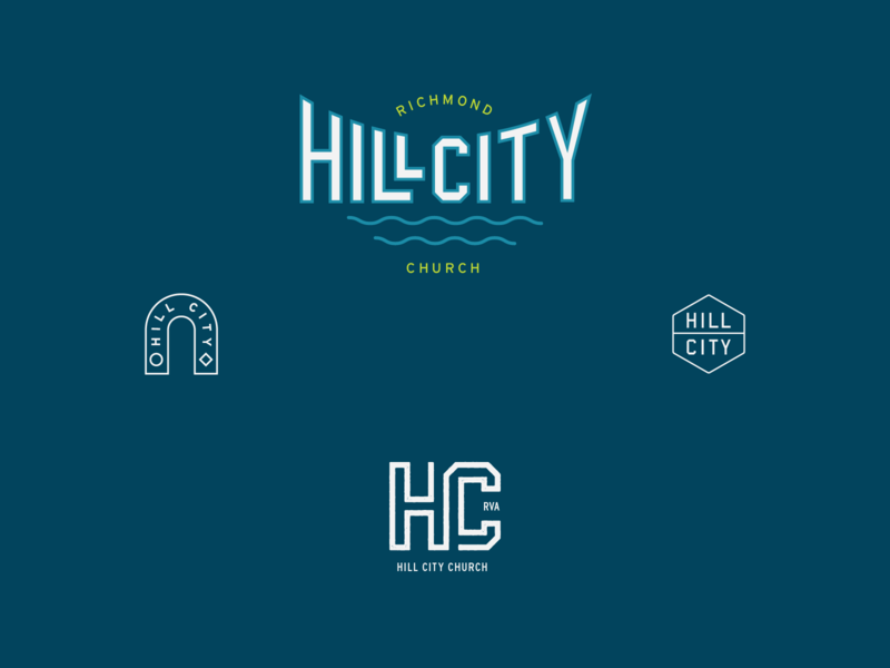 Hill City Church retro clean church richmond design branding logo typography