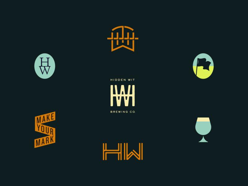 The Hidden Wit vector 2018 richmond lettering branding logo typography