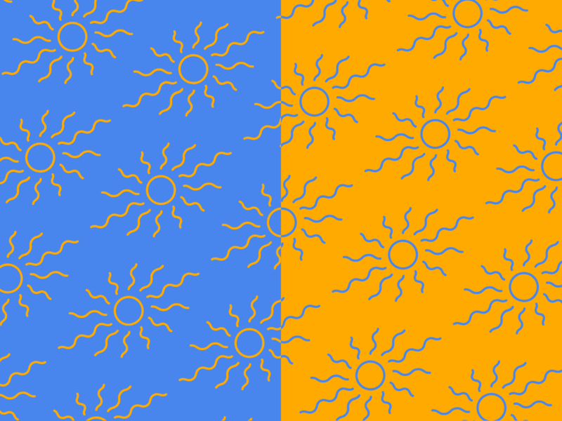 Heat Wave wave hot heat branding pattern design summer sun yellow blue pattern