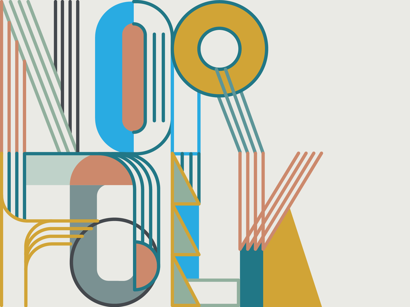 Gather Norfolk coworking design lettering typography norfolk gather