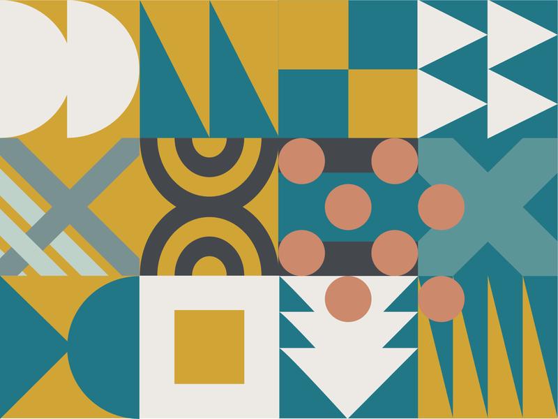 Gather Pattern design pattern design geometric stairwell norfolk gather mural pattern