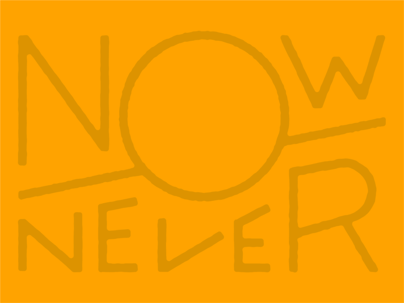 Now or Never city center gather richmond lettering typography