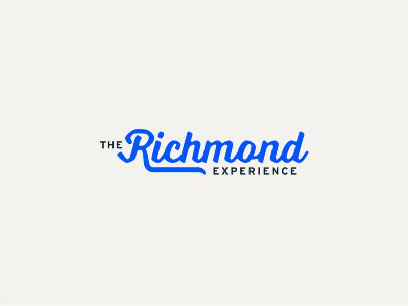 The Richmond Experience design typography website black blue white red martha interstate branding richmond rvax