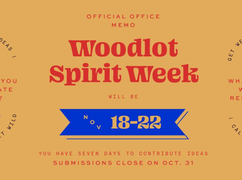 Woodlot Spirit Week lettering virginia richmond woodlot campfire banner week spirit martha primary ohno blazeface lockups typography