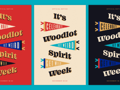 Woodlot Spirit Poster campfire richmond design lettering official notice pennant blazeface typography poster