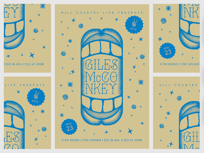 Giles McConkey -- Big Mouth Poster typography design illustration richmond dc tattoo poster band