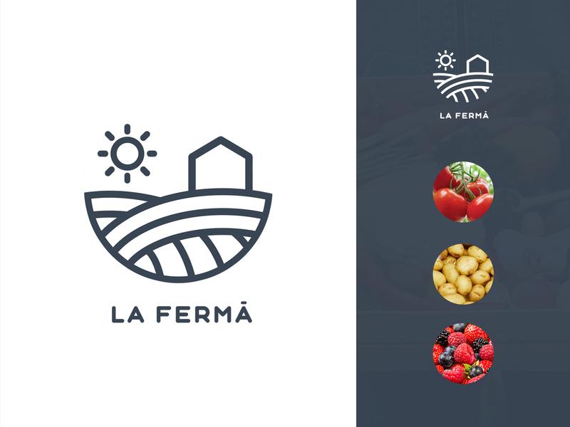 La Ferma icon modern clean simple farm logo branding