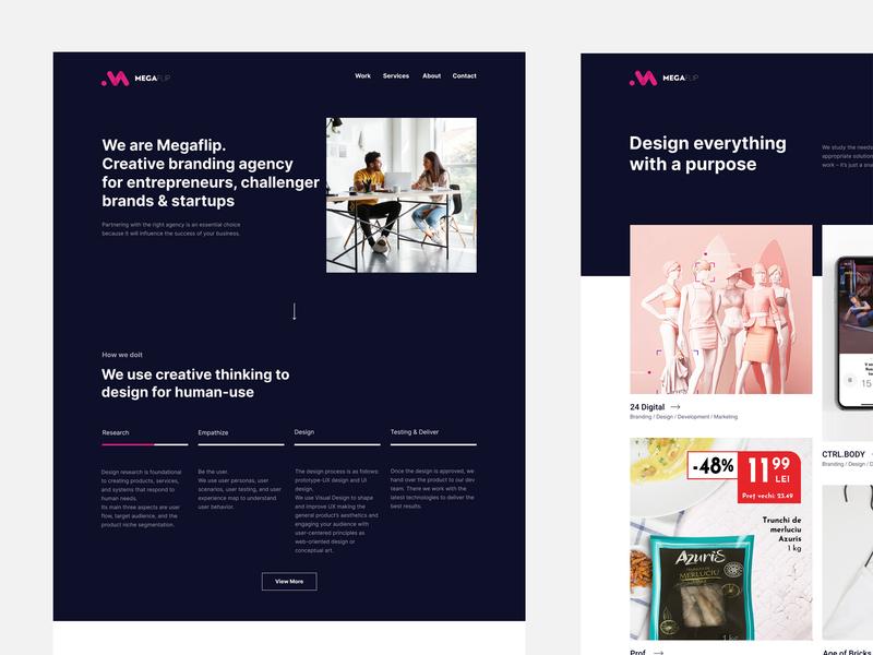 Digital Agency website ux clean web design responsive landing page ui website