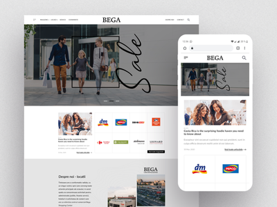 BEGA Shopping Center wordpress theme website branding clean bootstrap web design responsive landing page