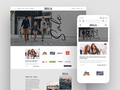 BEGA Shopping Center wordpress theme website branding clean bootstrap web design responsive landing page