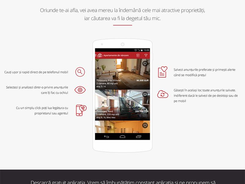 Mobile app website mobile app mobile real estate landing page