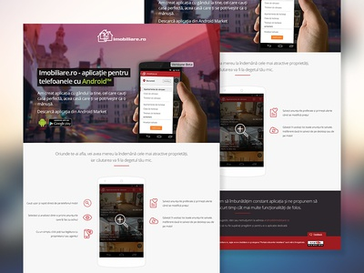 Landing page for mobile app landing page android app mobile layout webdesign clean real real estate
