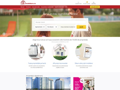 Imobiliare.ro responsive landing page web design landing ux website real estate