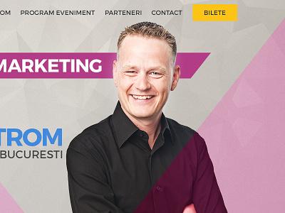 Martin Lindstrom conference website conference website web design layout bootstrap responsive martin lindstrom speaker website landing page