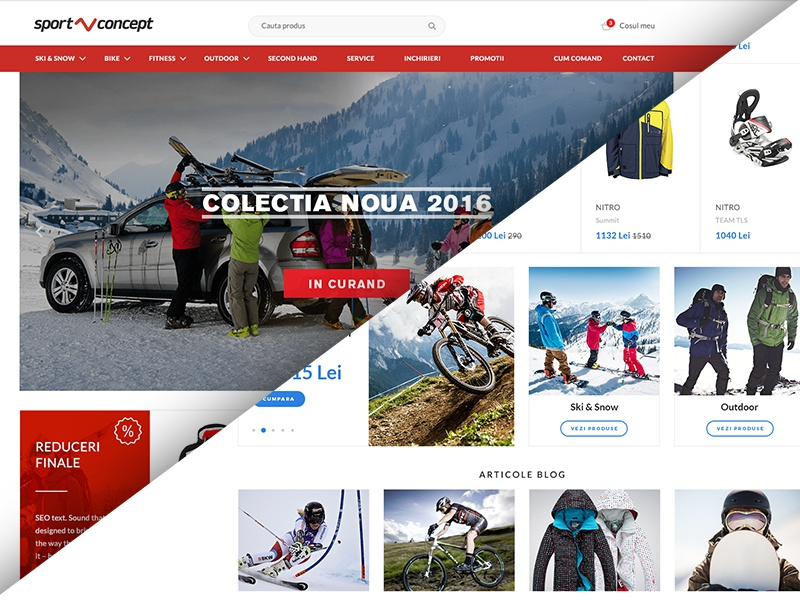 Sportconcept - Sports Retailer outdoor ski snowboard bootstrap grid website ui redesign shop store ecommerce