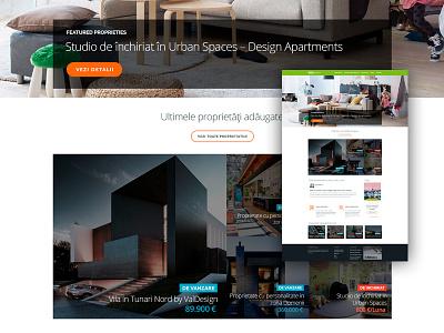 Real Estate Agency Website ui website landing page real estate homepage