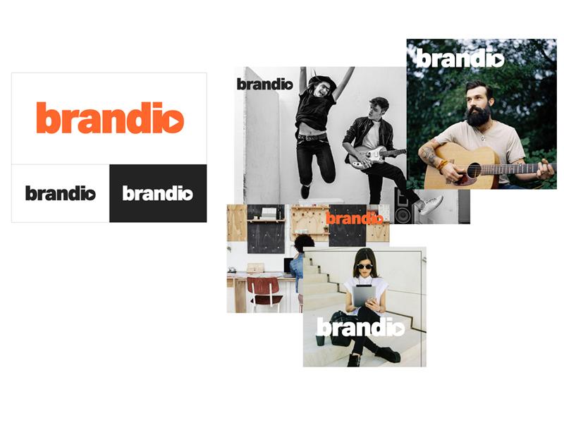 Logo Brandio modern fresh identity logo branding