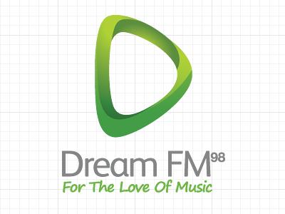 Dream Fm logo identity online radio green