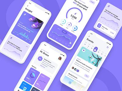 Health fitness mobile app mobile ui ux app health fitness