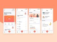 Ui ux health app mobile