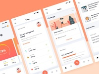 Health Fitness Mobile App UI UX