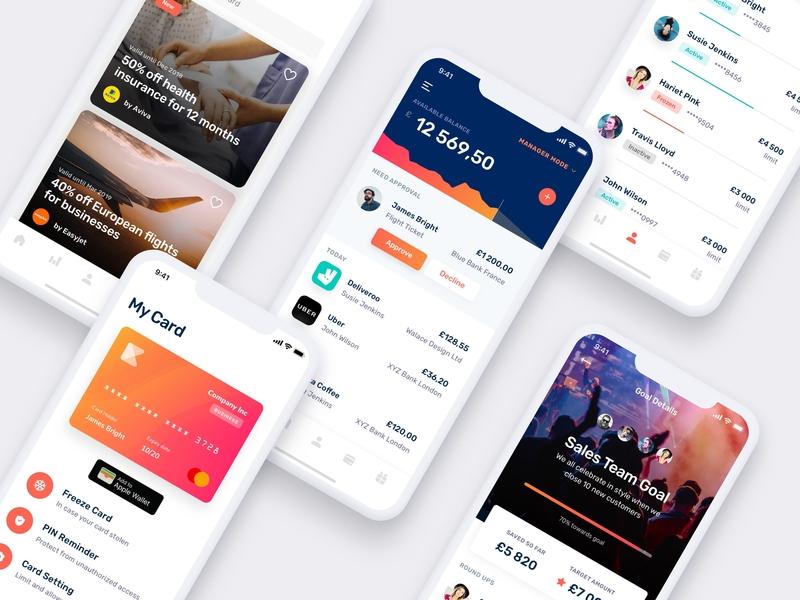 Finance Mobile App UI UX budget credit card ui ux finance app ios ui bank finance mobile
