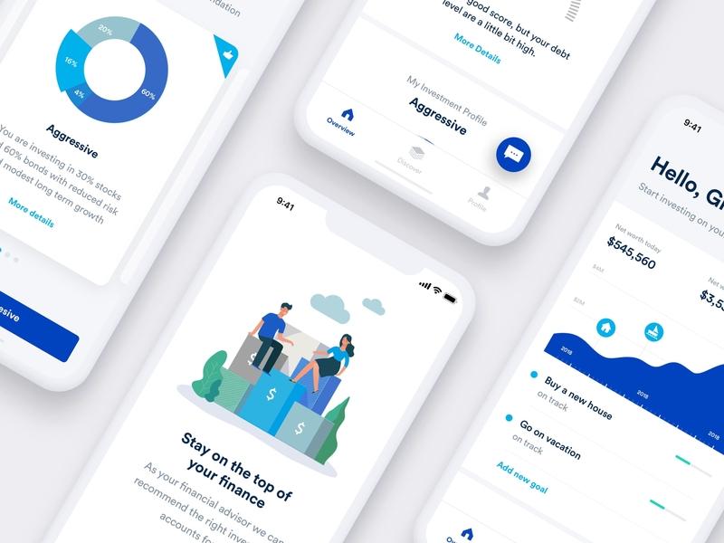 Investment Mobile App ios investment ui ux ui finance banking mobile app design mobile app