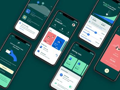 Goal Saving App UI UX ui ux kit pricing saving investment banking ui ux finance app mobile finance