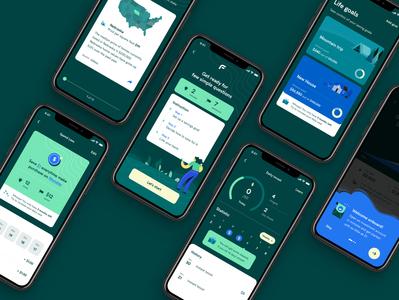 Goal Saving App UI UX ui ux mobile design saving investment banking mobile ui mobile finance app