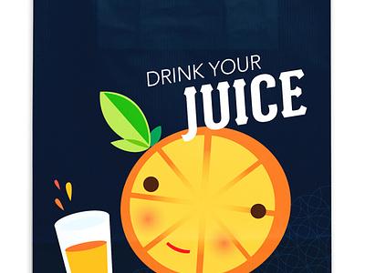 Drink Your Juice retail branding food juice illustration packaging