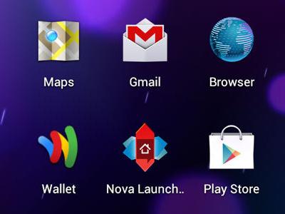 Nova Launcher icon app android mobile ui