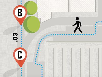 Employee Walking Map of Plant (detail) map