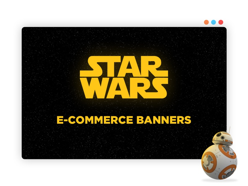 Star Wars E-Commerce Banner branding color drawing uiux web design design illustration interface layout landipg page creative graphic design banner project ecommerce character art star wars photoshop adobe